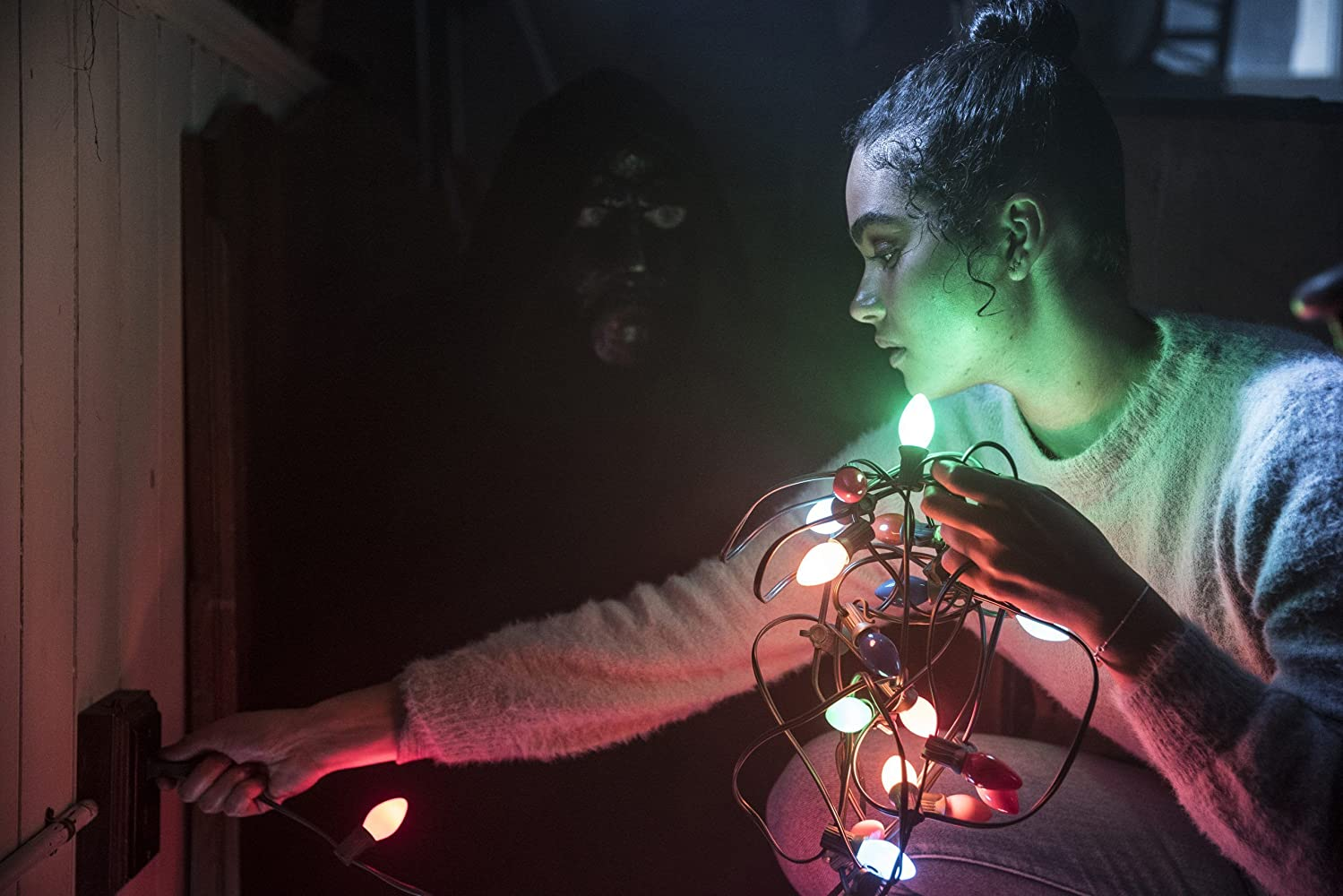 Jonny McBride and Brittany O'Grady in Black Christmas (2019)
