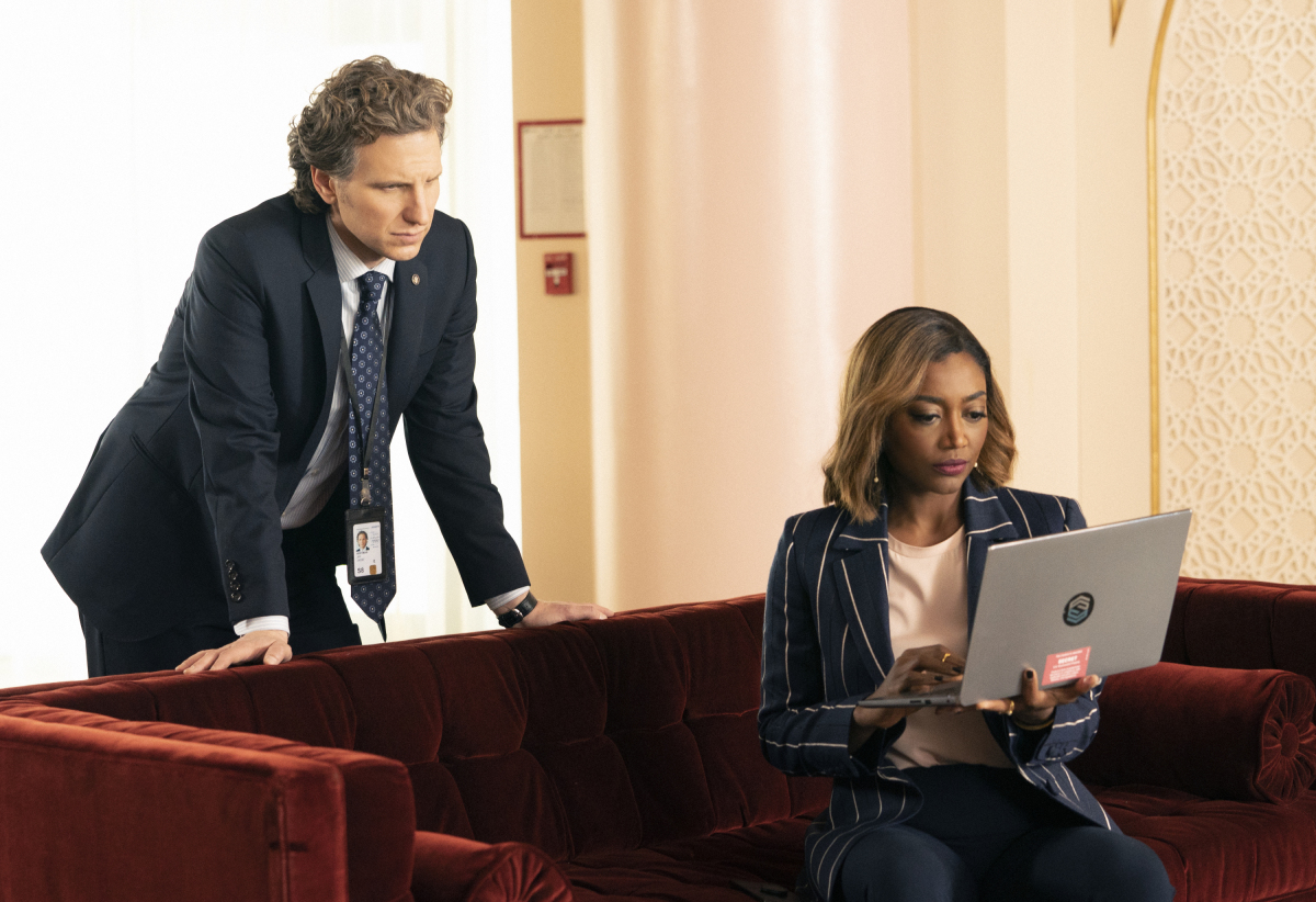 Sebastian Arcelus and Patina Miller in Madam Secretary (2014)