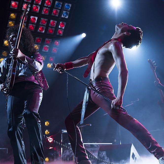 Rami Malek and Gwilym Lee in Bohemian Rhapsody (2018)