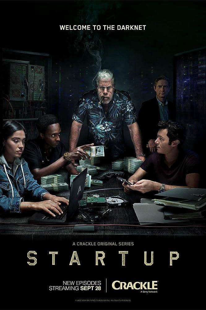 Ron Perlman, Adam Brody, Martin Freeman, Edi Gathegi, and Otmara Marrero in StartUp (2016)