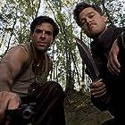Brad Pitt and Eli Roth in Inglourious Basterds (2009)