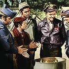 Robert Clary, Bob Crane, Richard Dawson, Larry Hovis, and Kenneth Washington in Hogan's Heroes (1965)