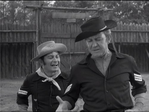 Larry Storch and Forrest Tucker in F Troop (1965)