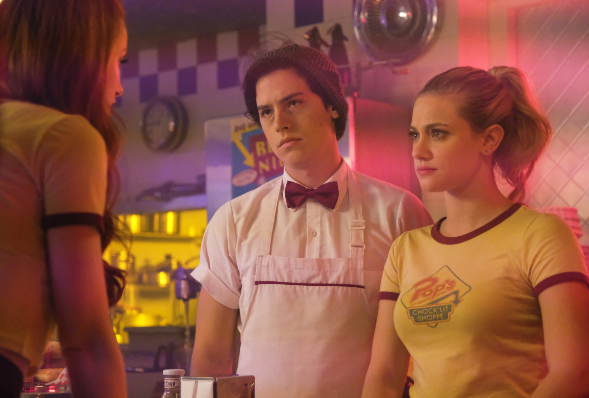 Cole Sprouse, Lili Reinhart, and Madelaine Petsch in Riverdale (2016)
