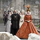 Cate Blanchett, Geoffrey Rush, Abbie Cornish, and Penelope McGhie in Elizabeth: The Golden Age (2007)