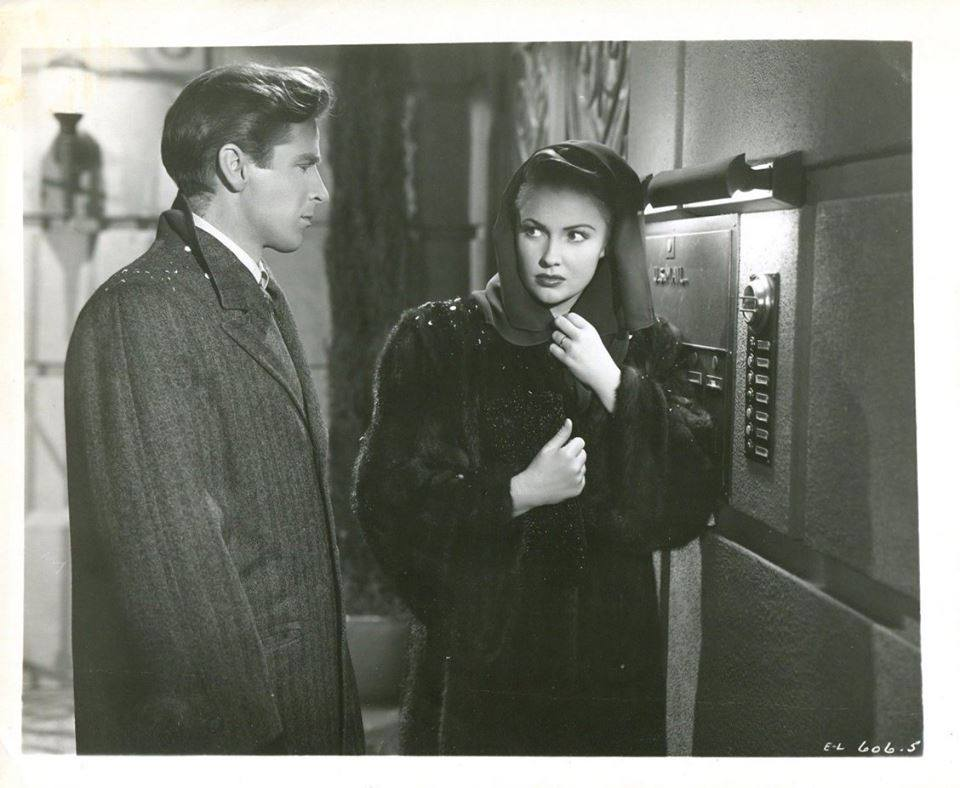 Richard Basehart and Joan Leslie in Repeat Performance (1947)