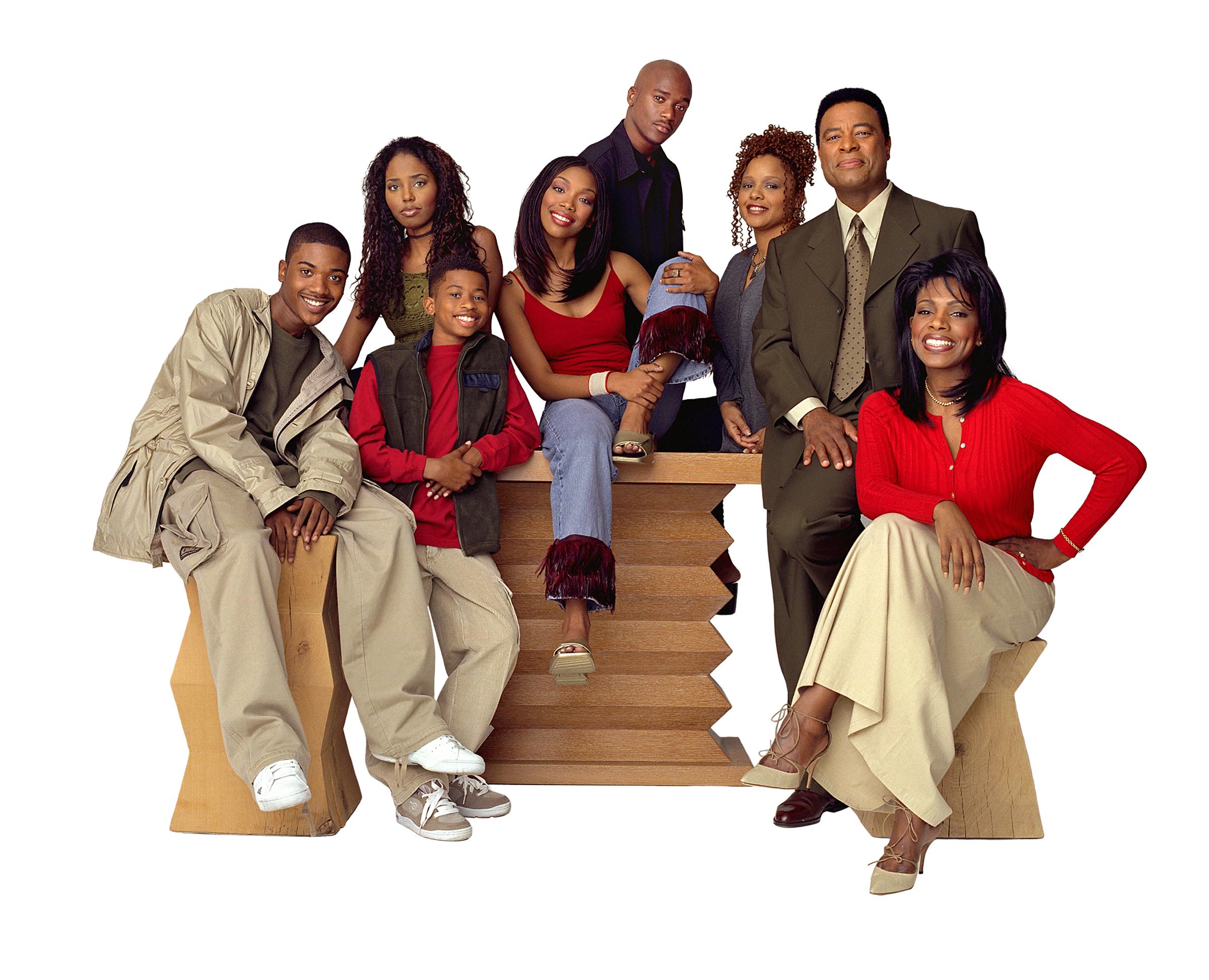 Ray J, Shar Jackson, Brandy Norwood, Sheryl Lee Ralph, Lamont Bentley, Marcus T. Paulk, Yvette Wilson, and William Allen Young in Moesha (1996)