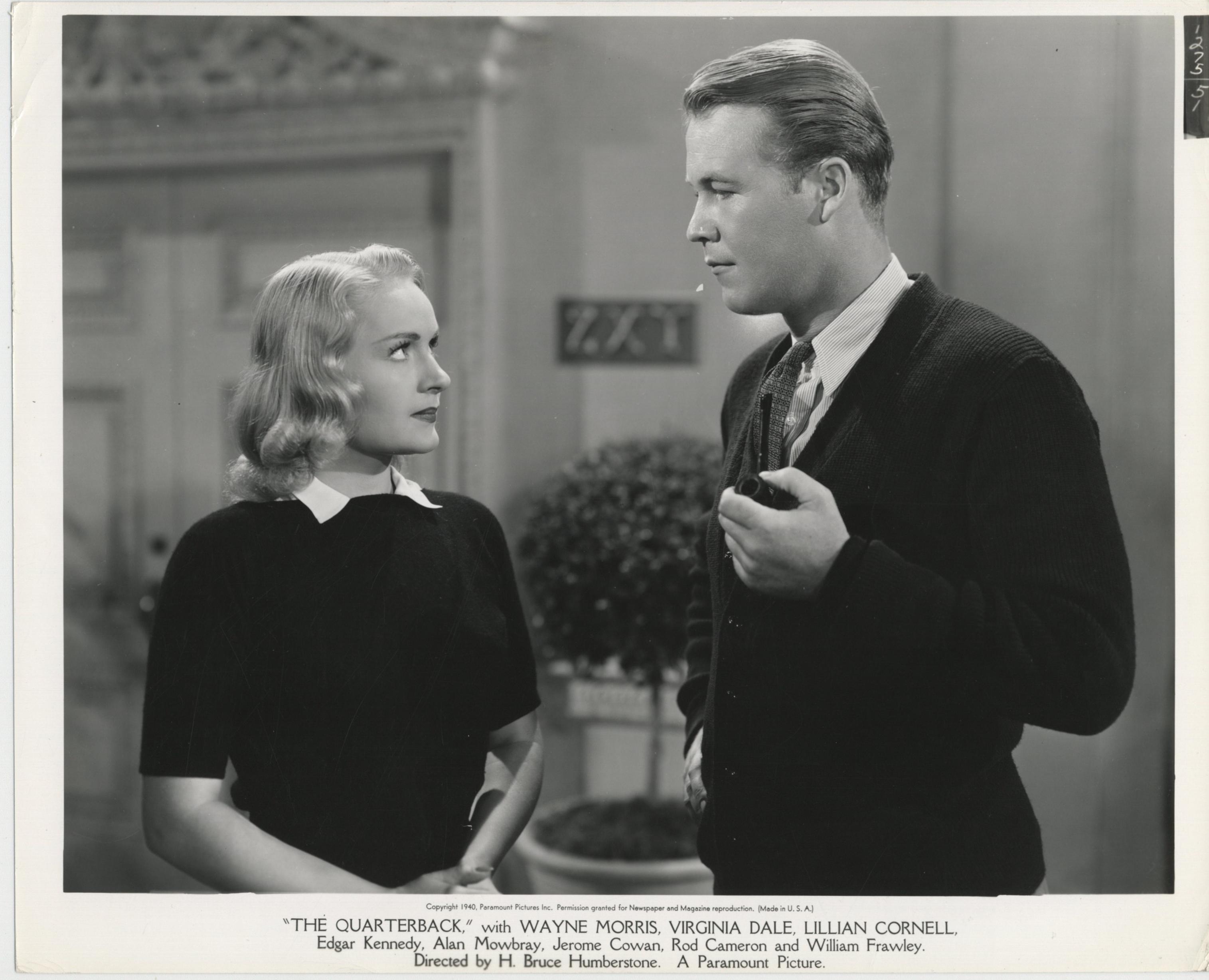 Virginia Dale and Wayne Morris in The Quarterback (1940)