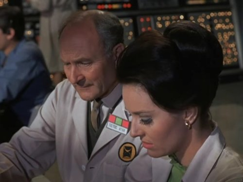 Lee Meriwether and John Zaremba in The Time Tunnel (1966)