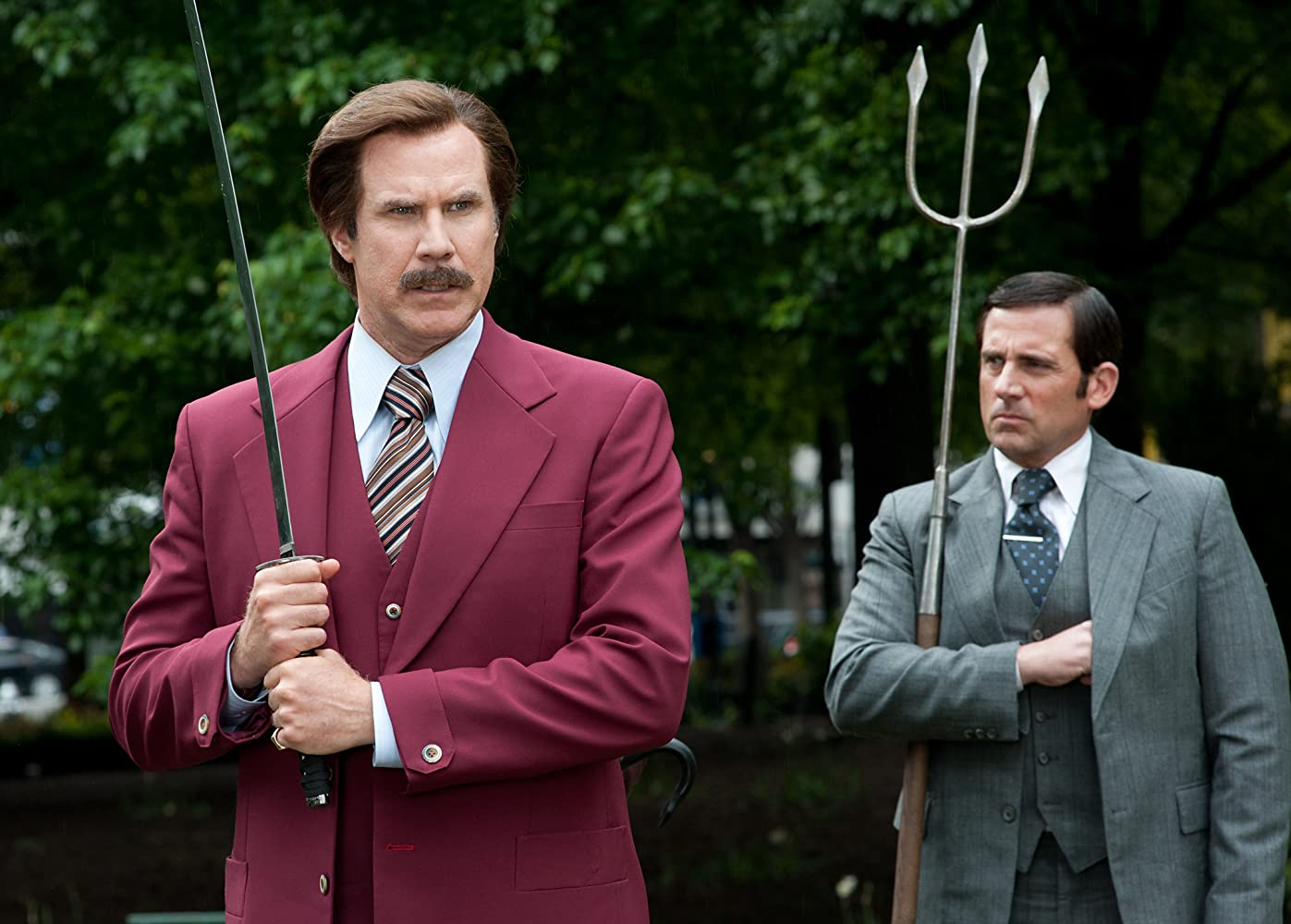 Will Ferrell and Steve Carell in Anchorman 2: The Legend Continues (2013)