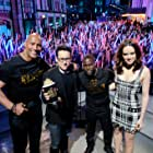 J.J. Abrams, Kevin Hart, Dwayne Johnson, and Daisy Ridley at an event for 2016 MTV Movie Awards (2016)