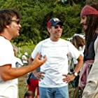 Johnny Depp, Jerry Bruckheimer, and Gore Verbinski in Pirates of the Caribbean: Dead Man's Chest (2006)