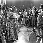 David Niven, Jack Hawkins, Margaret Leighton, Arlette Marchal, and Gibb McLaughlin in The Elusive Pimpernel (1949)