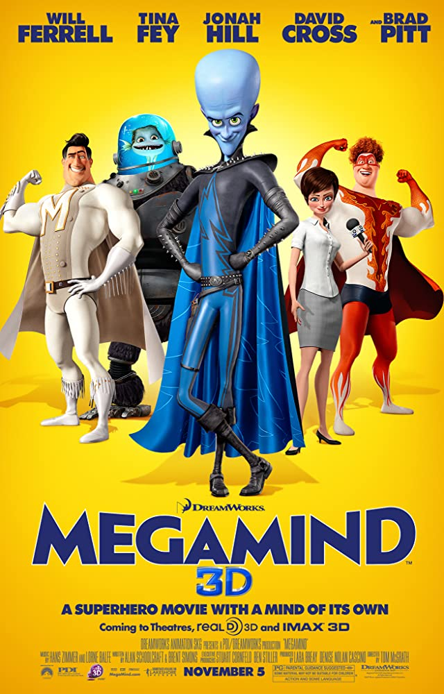 Megamind 2010 Hindi ORG Dual Audio 352MB BluRay ESub Download