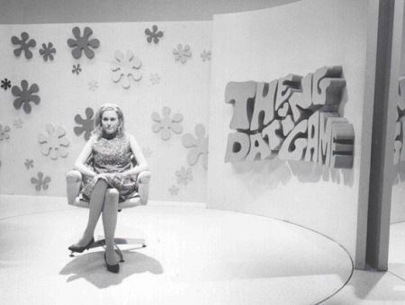 """Janet Lane as 'Blond Bachelorette' on 'The Dating Game' in """"Confessions of a Dangerous Mind""""."""