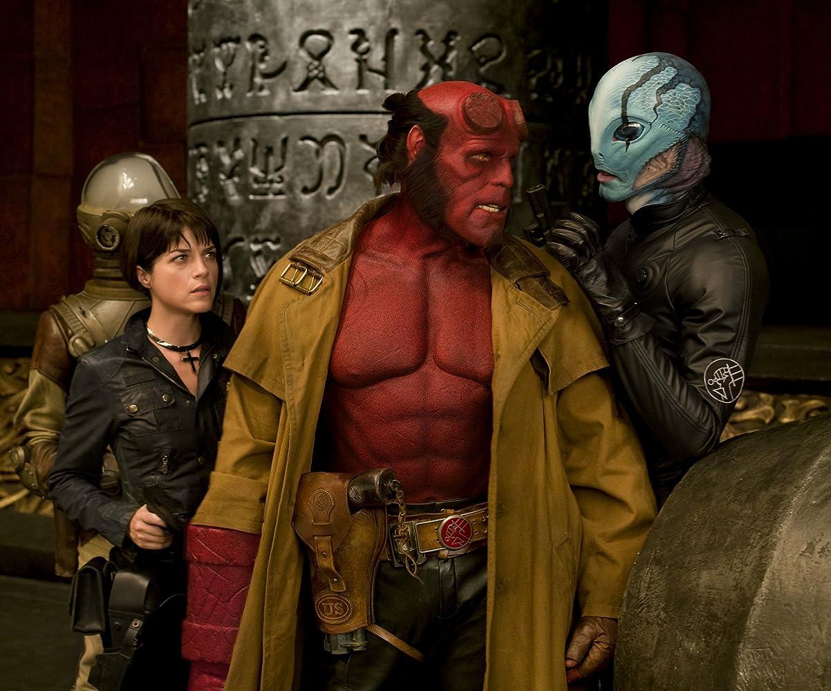 Ron Perlman, Selma Blair, John Alexander, Doug Jones, Seth MacFarlane, and James Dodd in Hellboy II: The Golden Army (2008)