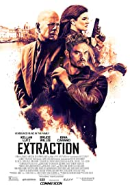Bruce Willis, Kellan Lutz, and Gina Carano in Extraction (2015)