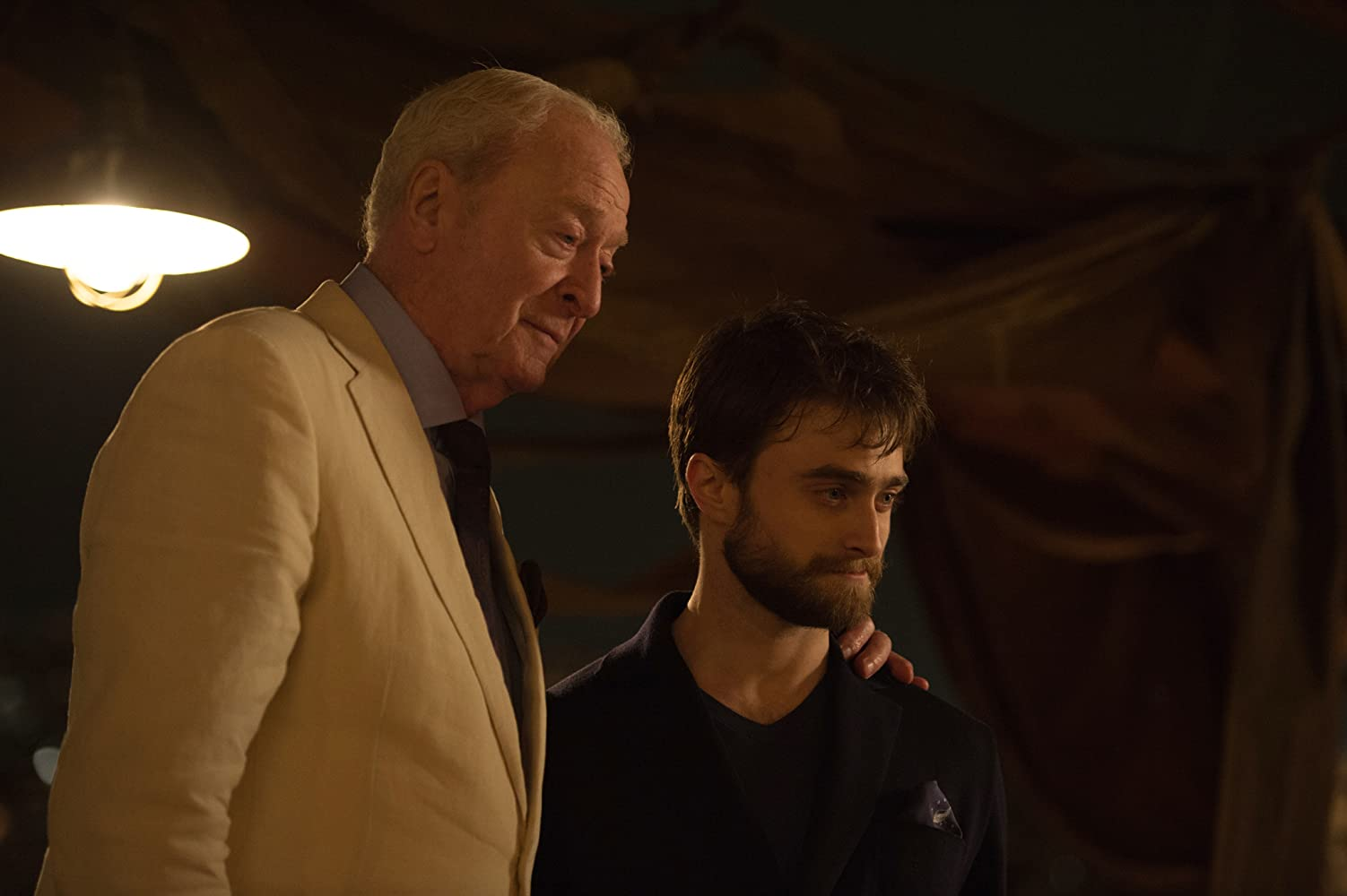 Michael Caine and Daniel Radcliffe in Now You See Me 2 (2016)