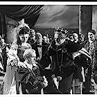 Laurence Olivier, Eileen Herlie, Terence Morgan, and Basil Sydney in Hamlet (1948)