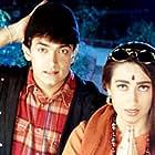 Karisma Kapoor and Aamir Khan in Raja Hindustani (1996)