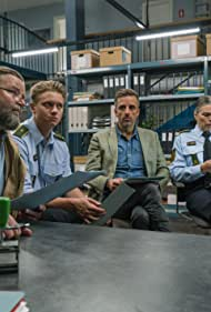 Lotte Andersen, Peter Gantzler, André Babikian, and Mathias Käki Jørgensen in The Sommerdahl Murders (2020)