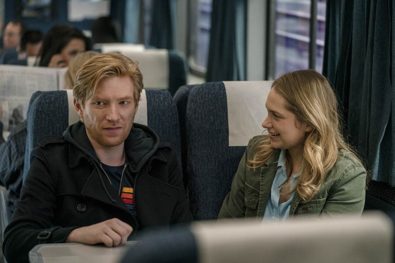 Merritt Wever and Domhnall Gleeson in Run (2020)