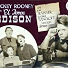 Mickey Rooney, Fay Bainter, and George Bancroft in Young Tom Edison (1940)