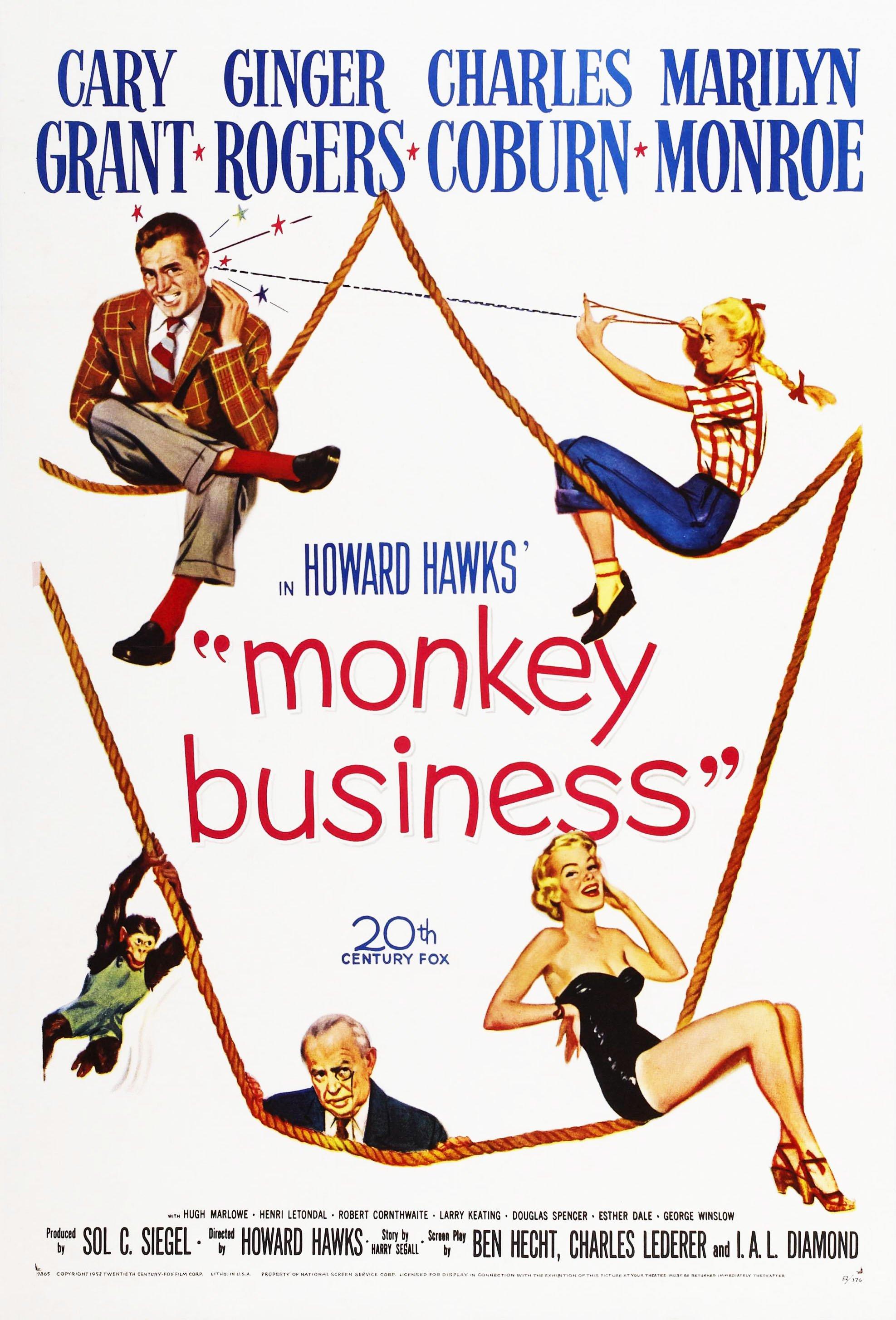 Movie Still Poster Monkey Business Marilyn Monroe
