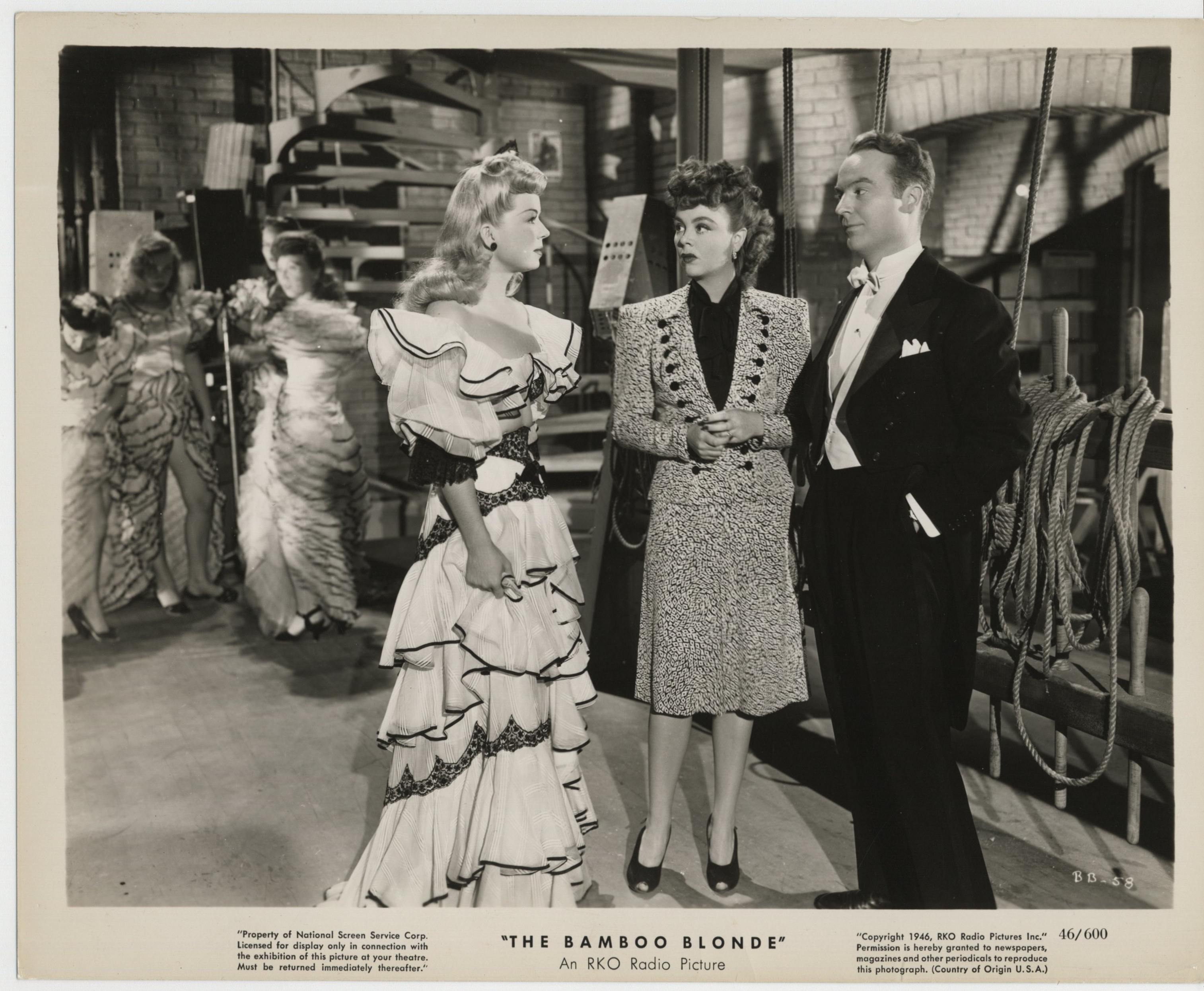 Iris Adrian, Ralph Edwards, and Frances Langford in The Bamboo Blonde (1946)