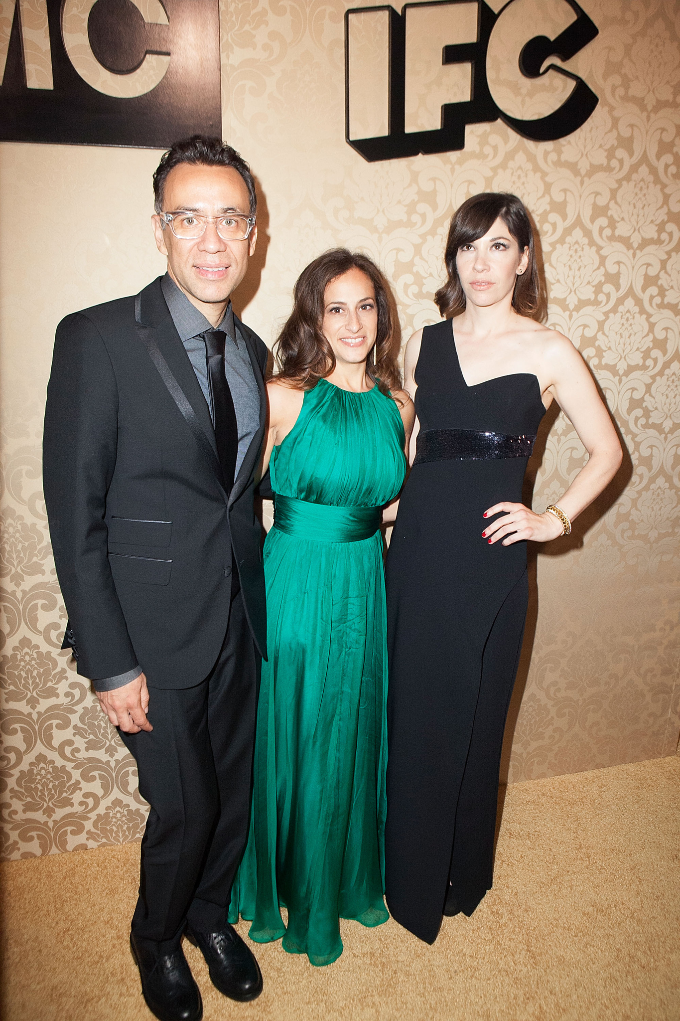 Fred Armisen, Carrie Brownstein, and Jennifer Caserta at an event for The 66th Primetime Emmy Awards (2014)