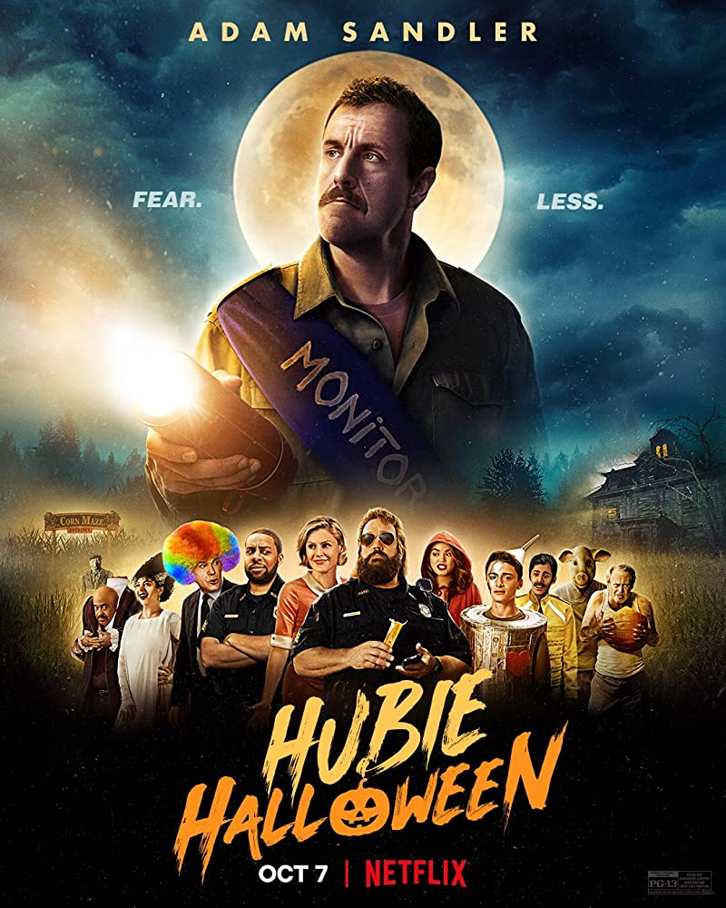 Steve Buscemi, Ray Liotta, Adam Sandler, Tim Meadows, Julie Bowen, Kevin James, Maya Rudolph, Kenan Thompson, Kelli Berglund, Karan Brar, and Noah Schnapp in Hubie Halloween (2020)