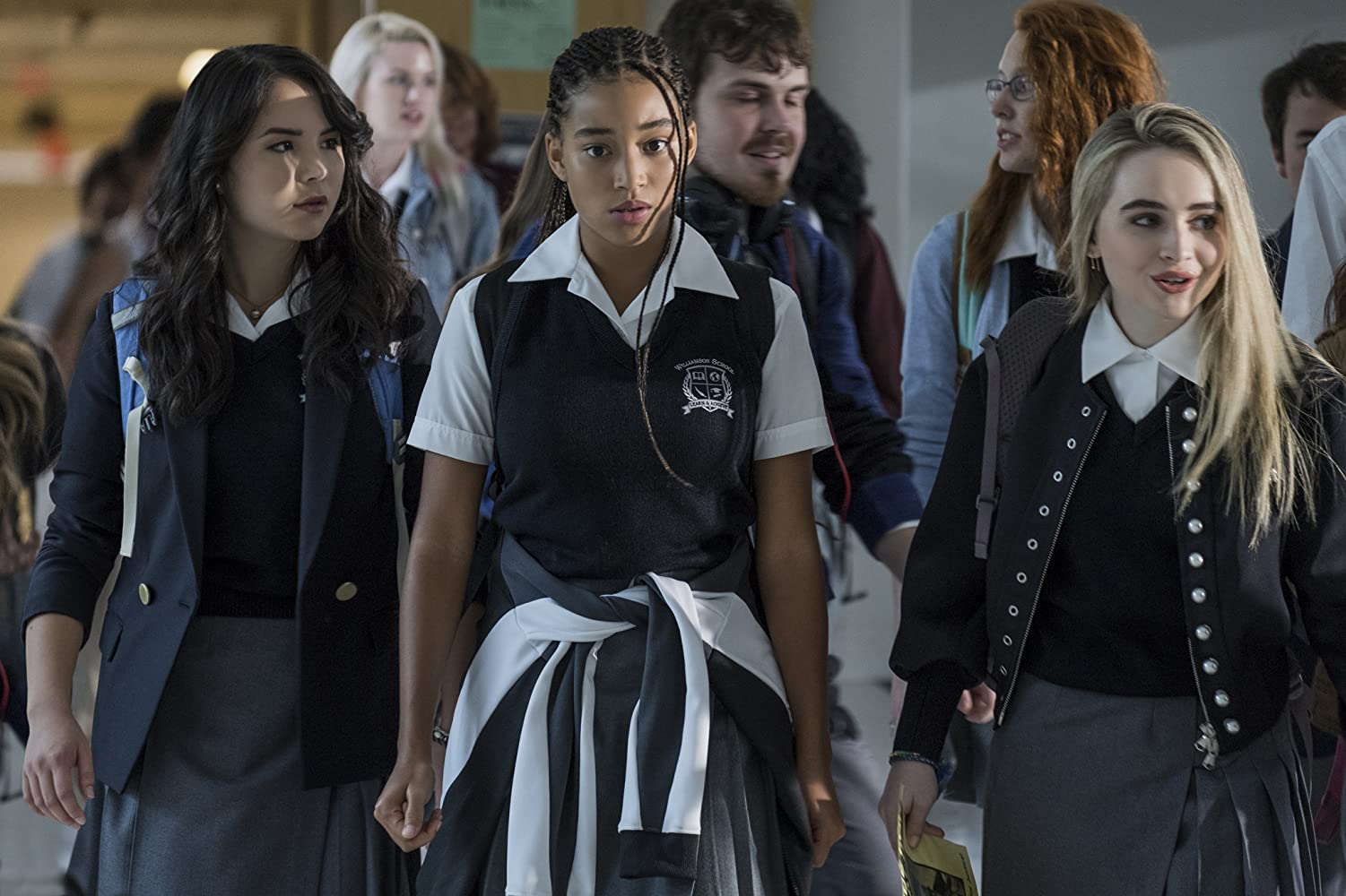 Amandla Stenberg, Sabrina Carpenter, and Megan Lawless in The Hate U Give (2018)