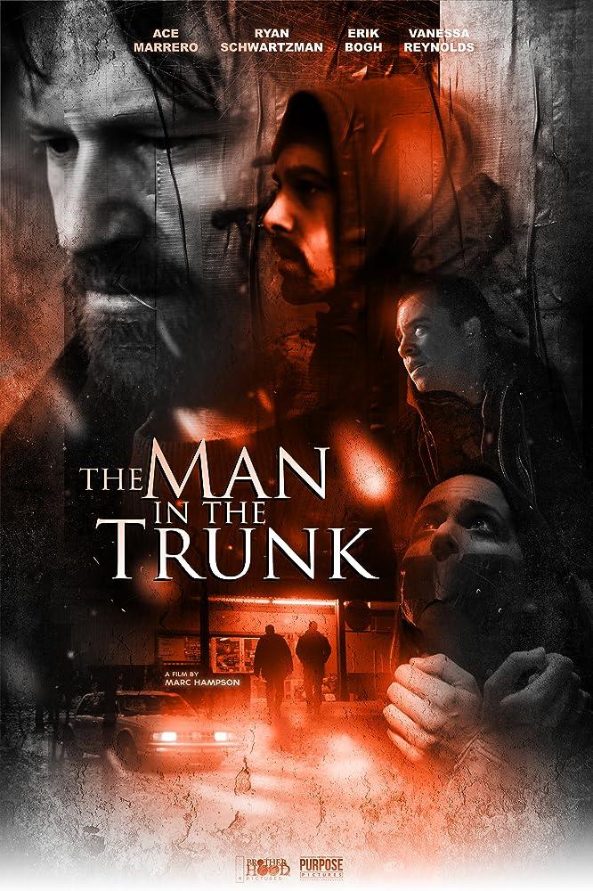 Ace Marrero, Vanessa Reynolds, Ryan Schwartzman, and Erik Bogh in The Man in the Trunk (2019)