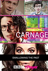 Simon Amstell, Martin Freeman, and Samantha Spiro in Carnage: Swallowing the Past (2017)