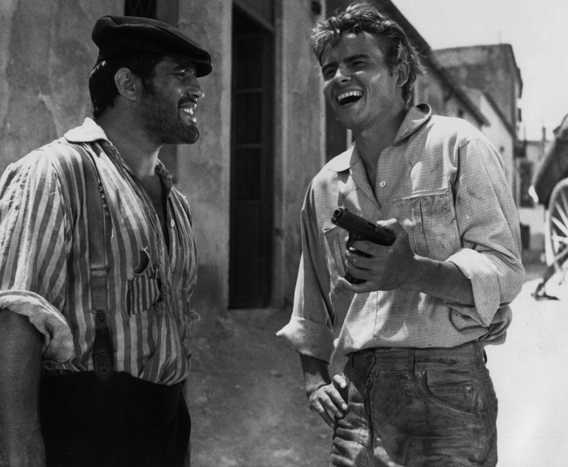 Mario Adorf and Horst Buchholz in Das Totenschiff (1959)