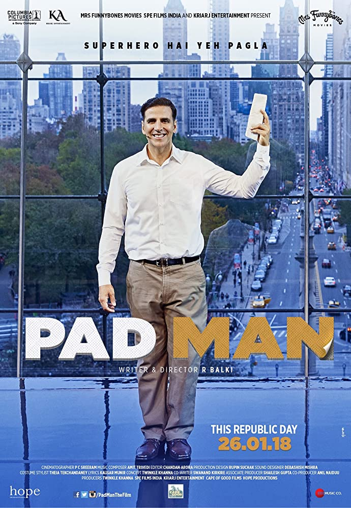 Padman (2018) Hindi BluRay 480p 390MB MKV