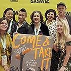 Ellen Spiro, PJ Raval, Sarah Garrahan, Julia Robertson, Robert J. Barnhart, Neha Aziz, Jessica Jin, Ana Lopez, and Rosie Zander at an event for Come & Take It (2018)