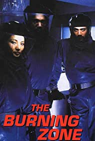 Tamlyn Tomita, James Black, and Jeffrey Dean Morgan in The Burning Zone (1996)
