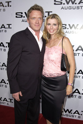 Anthony Michael Hall and Sandra Guerard at an event for S.W.A.T. (2003)