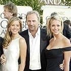 Kevin Costner, Lily Costner, and Christine Baumgartner at an event for The 61st Annual Golden Globe Awards 2004 (2004)