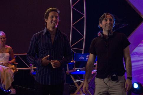 Hugh Grant and Paul Weitz in American Dreamz (2006)