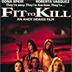Julie Strain, Cynthia Brimhall, Geoffrey Moore, Dona Speir, and Roberta Vasquez in Fit to Kill (1993)