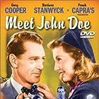 Gary Cooper, Barbara Stanwyck, and James Gleason in Meet John Doe (1941)