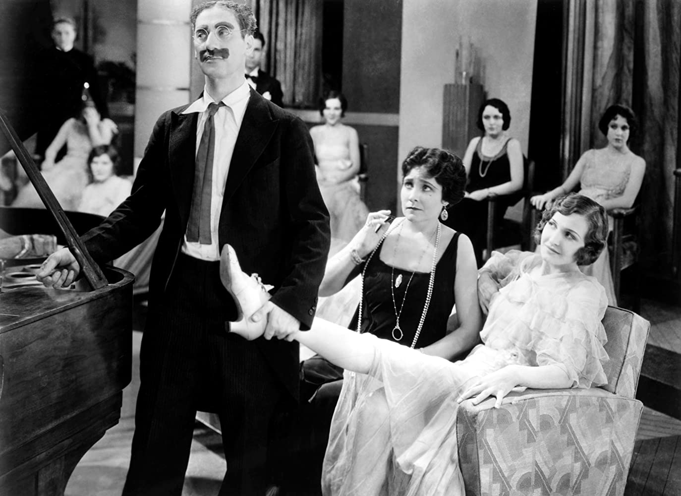 Groucho Marx Margaret Dumont and Lillian Roth in Animal Crackers 1930