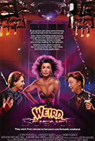 Anthony Michael Hall, Kelly LeBrock, and Ilan Mitchell-Smith in Weird Science (1985)