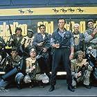 Jeff Goldblum, Peter Weller, Bill Henderson, Damon Hines, Gerald Peterson, Michael Santoro, Pepe Serna, Lewis Smith, and Billy Vera in The Adventures of Buckaroo Banzai Across the 8th Dimension (1984)