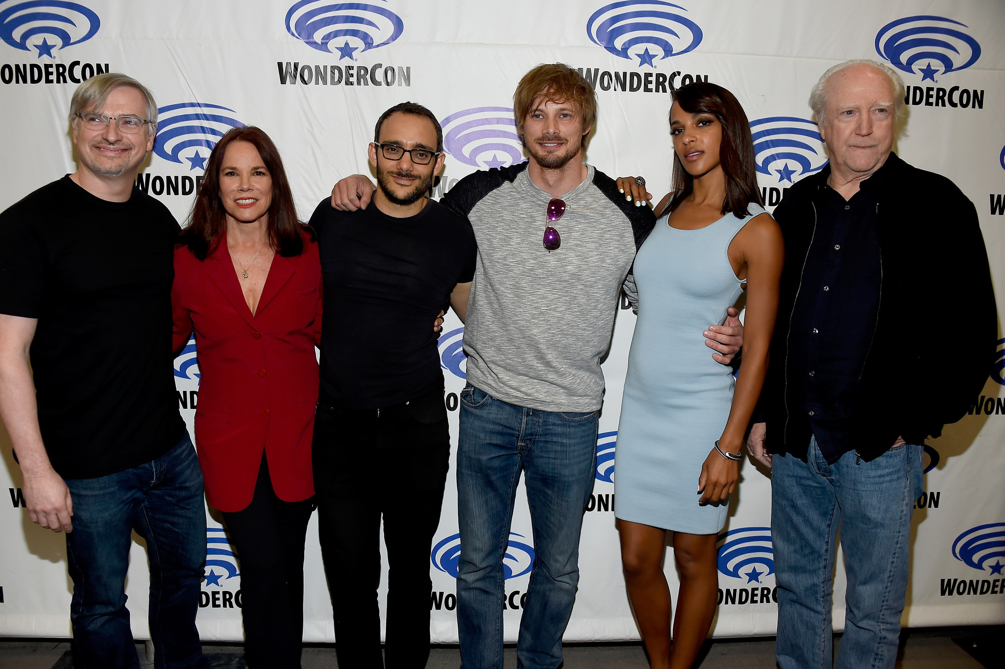 Barbara Hershey, Megalyn Echikunwoke, Scott Wilson, Glen Mazzara, Omid Abtahi, and Bradley James