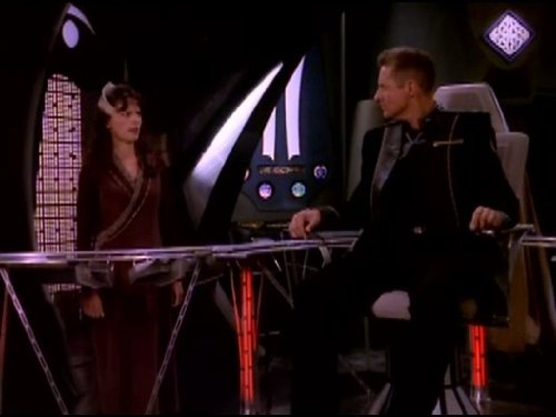 Bruce Boxleitner and Mira Furlan in Babylon 5 (1993)