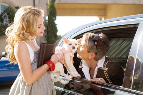 Jamie Lee Curtis and Piper Perabo in Beverly Hills Chihuahua (2008)