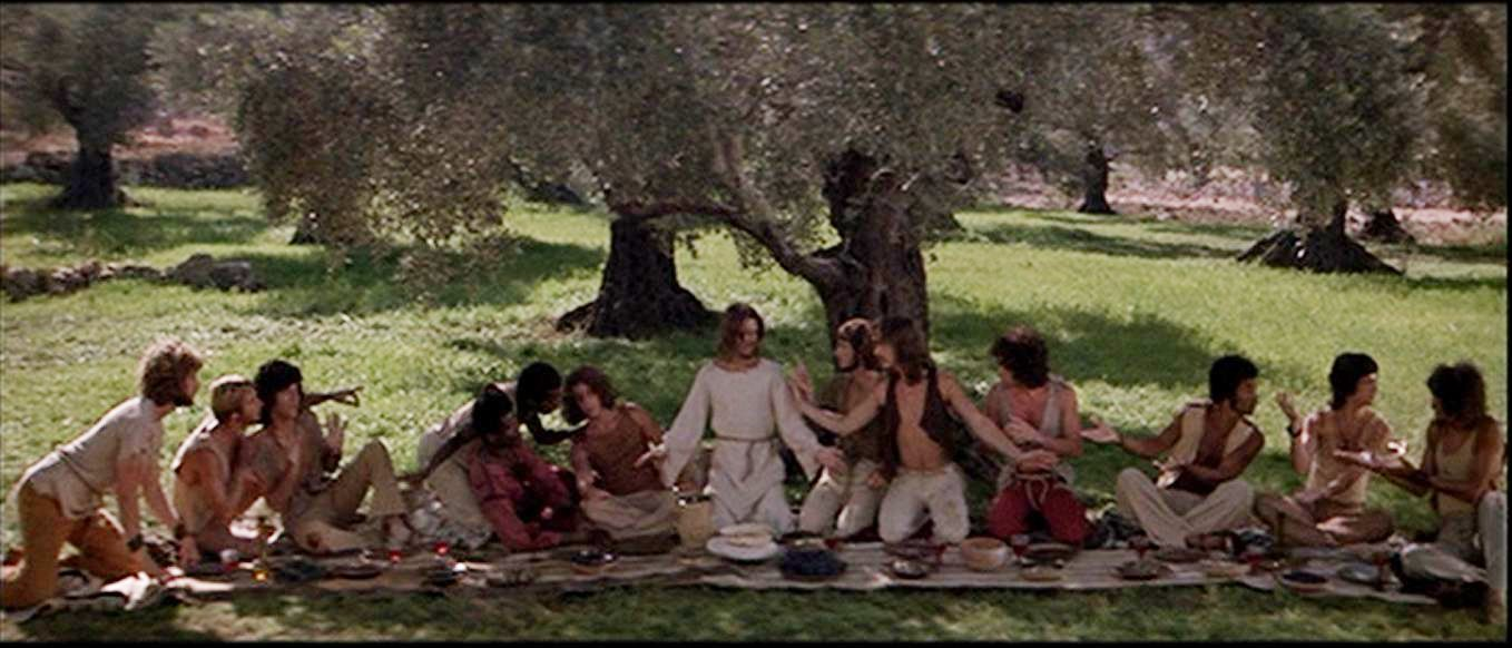 Paul Thomas, Robert LuPone, Richard Molinare, Ted Neeley, Richard Orbach, and Thommie Walsh in Jesus Christ Superstar (1973)
